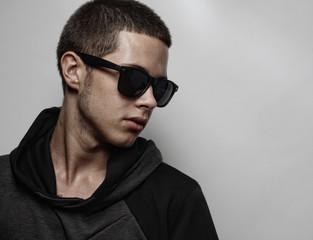 Stylish fashion young man portrait