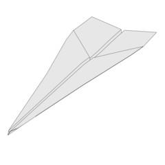 cartoon image of paper plane