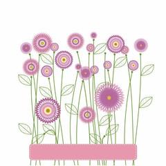 sommer flower card