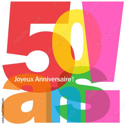 Carte 40 Ans Joyeux Anniversaire Fête Voeux Félicitations