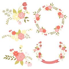 Set of flowers