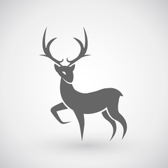Deer christmas icon