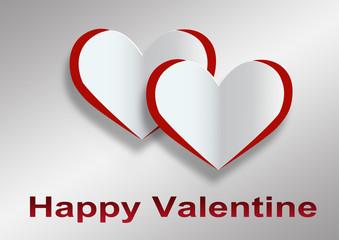 Valentines Day - Herzen im Paper Style