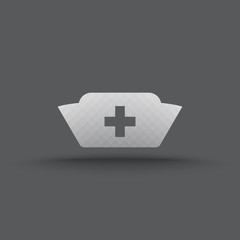 Vector of transparent nurse cap icon on isolated background