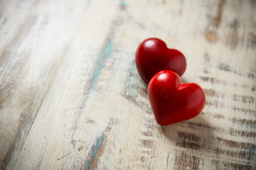 two red stone heart