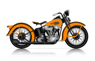 orange motorcycle
