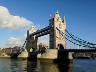 Tower Bridge over the Thames River, London, UK.