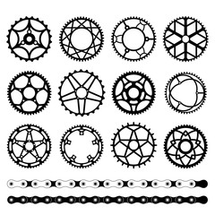 Set of chainrings