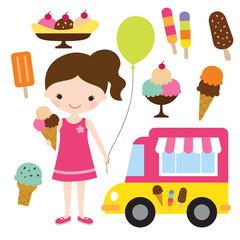 Girl with an ice cream