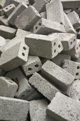 Pile of Gray Cinder Blocks