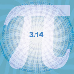 sequence of number pi digits in spiral