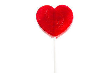 Heart lollipop of Valentines day isolated