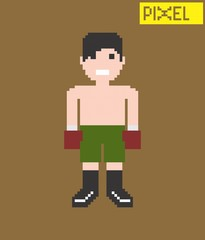 pixel cartoon character