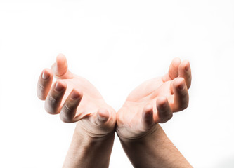 Two outstretched hands
