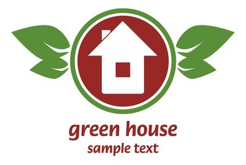Green house illustration