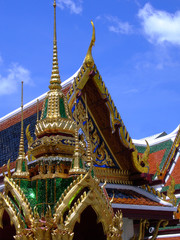 Roof of the Wat Phra Kaew Temple  Bangkok