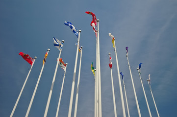 group of national flags