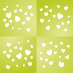 Valentine's Day green background vector