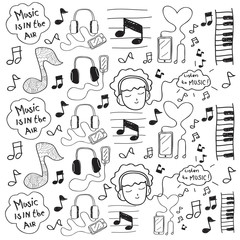 Music Doodle Drawing