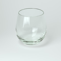 Glass Collection - For Whiskey. On White Background