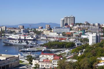 Panorama Of Vladivostok. Bight Golden Horn