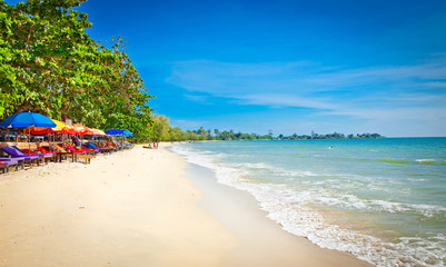 Beautiful Independence beach in Sihanoukville, Cambodia .