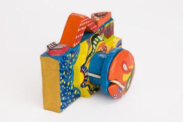 Multi Colored Paper Toy Camera
