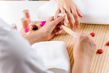 Woman at beauty salon