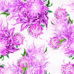 pattern of piony flowers
