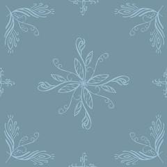 gray Seamless floral pattern - Illustration