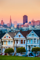 Photo sur Aluminium San Francisco The Painted Ladies of San Francisco, California, USA.