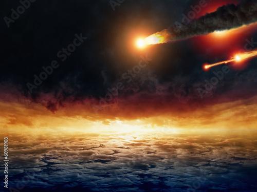 Fototapete Asteroid impact
