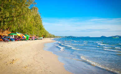 Beautiful Otres beach in Sihanoukville, Cambodia .