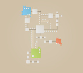 map of the color squares