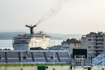Toulon, harbor and stadium