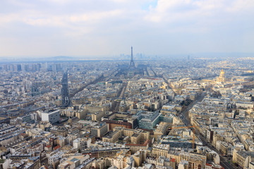 Panorama of Paris with Eiffel tower