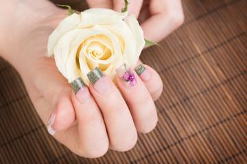 Manicure close up