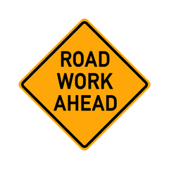 traffic sign - road work ahead - e489