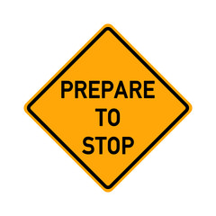 traffic sign - prepare to stop - e491