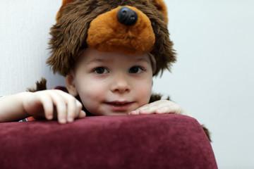 Kid in a bear suit