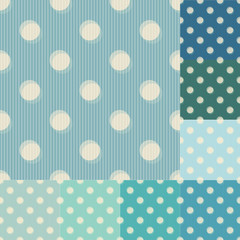 seamless blue polka dots striped pattern