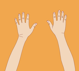 Man hands, vector format