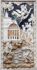 Palermo - Baroque relief of Old Testament scene