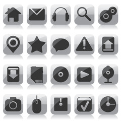 Web glass icons
