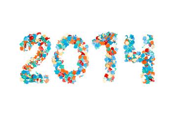 Carnival 2014 paper confetti isolated