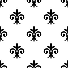 Fleur de lys seamless pattern background