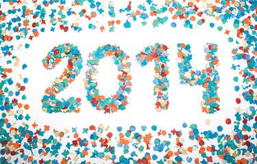 Carnival 2014 date confetti isolated