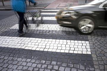 danger at pedestrian crossing