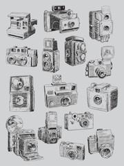 Sketchy Vintage Camera Set