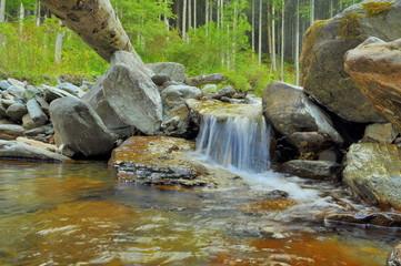 Cascade Of Mountain River